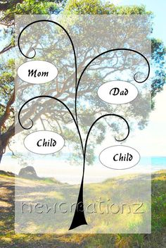 Custom Family Tree  Mothers day  Summertime tree by NewCreatioNZ, $29.00 #mothers day