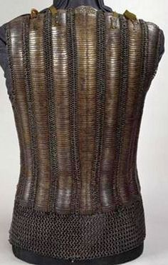 Russian behterets/bakhterets (mail shirt with narrow metal plates like scales on the chest and back), 17th century, Russian Kremlin Museum.