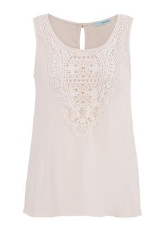 sleeveless top with lace and button up back