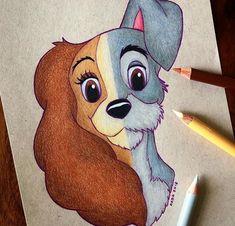 The tramp fan art disney fan art in 2019 disn Cute Disney Drawings, Cool Art Drawings, Disney Sketches, Pencil Art Drawings, Art Drawings Sketches, Animal Drawings, Drawing Disney, Disney Character Drawings, Drawings Of Disney Characters