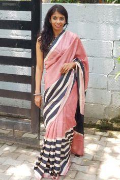 Beautiful Eye Makeup, Beautiful Eyes, Tussar Silk Saree, Half Saree, Saree Styles, Office Wear, Dusty Pink, Personal Style, Ready To Wear