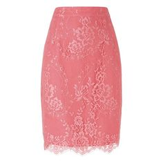 Essie Lace Pencil Skirt Colour Peony