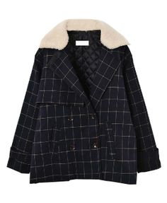Detachable Lambswool Collar Double-breasted Coat