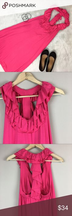 Southern Frock Pink Dress Southern Frock pink racerback dress. Size small. Approximate measurements are 37' long & 30' bust. EUC with no stains and no flaws. Has an amazing neck line and racerback! Comes with a built in bra 👏🏻. Great vacation or pool dress. ❌No trades ❌ Modeling ❌No PayPal or off Posh transactions ❤️ I 💕Bundles ❤️Reasonable Offers PLEASE ❤️ Bundle & SAVE❗️❗️ Southern Frock  Dresses Mini