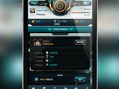 Impressive #iphone #ui #design for a real strategic game app.