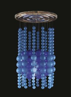 Verner Panton - velvet galerie - mobilier design - Quasar Khanh - inflatable furniture-pop culture. Blue Ball Lamp , Verner Panton , Luber