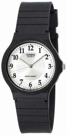 Casio Women's MQ24-7B3 Classic Analog Watch Casio. $8.88. Plastic case; white-and-silver dial. Protective mineral crystal protects watch from scratches. Case diameter: 34 mm. Quartz movement