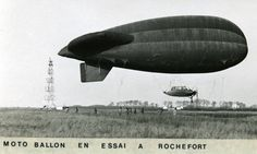 [1938] Balloon test in Rochefort / Moto ballon en essai à Rochefort