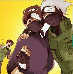 Guy, Rock Lee, Kakashi, crying, funny, outfit, mask; Naruto