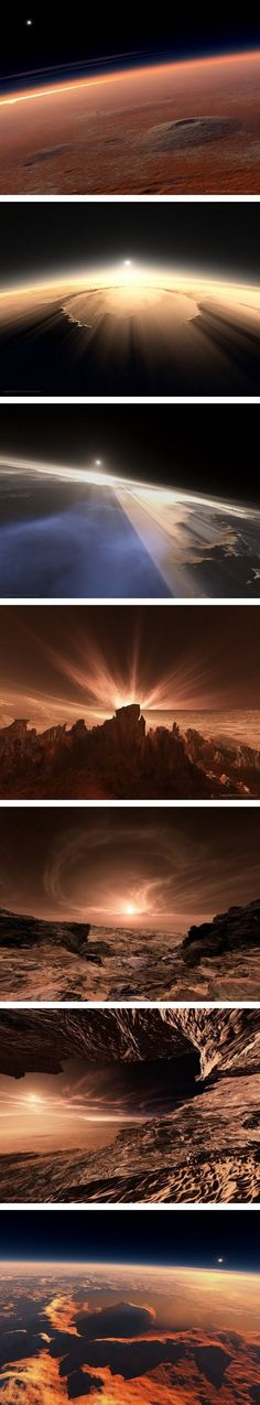 photos of Mars, the Red Planet. It is truly amazing we can now see photos from the surface of another planet! Sistema Solar, Cosmos, Eclipse Solar, Red Planet, Space And Astronomy, To Infinity And Beyond, Deep Space, Space Travel, Space Exploration