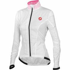 Castelli Leggera Women's Jacket White/Pink Fluo, L - http://ridingjerseys.com/castelli-leggera-womens-jacket-whitepink-fluo-l/