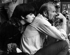 Liza Minnelli and Director Bob Fosse on the set of Cabaret.