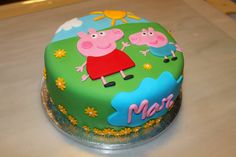 Peppa and George cake Peppa Pig Holiday, Tortas Peppa Pig, Peppa Pig Cakes, George Pig Cake, Peppa Pig Birthday Cake, 3rd Birthday, Pig Party, Novelty Cakes, Sweet Cakes