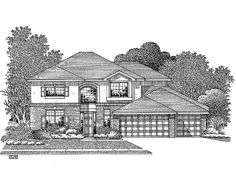 Elegant 2 Story House Plans Displaying Luxury: Wonderful 2 Story Villa Floor Plans Merscille