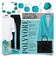 """""""Crystal Jewelry"""" by laurenjane47 ❤ liked on Polyvore featuring Victoria Beckham, Steffen Schraut, Casadei, Yves Saint Laurent, women's clothing, women's fashion, women, female, woman and misses"""