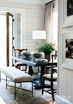 LAKESIDE LUXERobert Brown and architectural firm Spitzmiller & Norris balance rustic comfort with modern sophistication for the interior designer's personal Lake Hartwell retreat.Styled by Thea Beasley Photographed by Erica George Dines Written by Jennifer Boles
