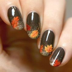Fall is that time of year where the weather cools down and all the troubles of thee hot summer go away. This is why today we found the best fall nail art. We have found 37 of the best fall nail art designs of all time. Fall Nail Art Designs, Simple Nail Designs, Brown Nail Designs, Fall Pedicure Designs, Fall Designs, Cute Nails For Fall, Gel Nagel Design, Thanksgiving Nails, Thanksgiving Nail Designs