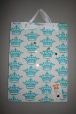 Magnet Board Covered with Turquoise Crown Fabric