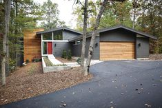 Mid-Century Modern - midcentury - exterior - grand rapids - New Urban Home Builders