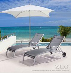 Zuo Modern 703601  Casam Chaise Lounge Black & Silver