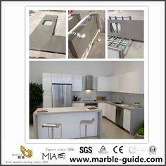 Quartz Kitchen Countertops, Vanity Countertop, Kitchen Tops, Wooden Crates, Building Materials, China, Pure Products, Grey, Home Decor