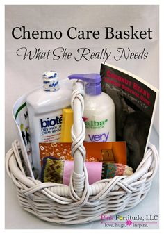 Chemo Care Basket for Cancer - What She Really Needs by coconutheadsurvivalguide.com