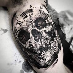 I Lve skulls #electricink