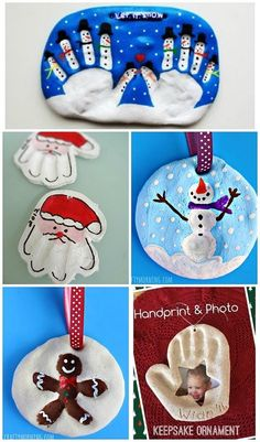 Adorable salt dough ornaments for Christmas crafts! Great gifts from the kids.