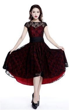 Chic Star Plus Size Red Lace Dress