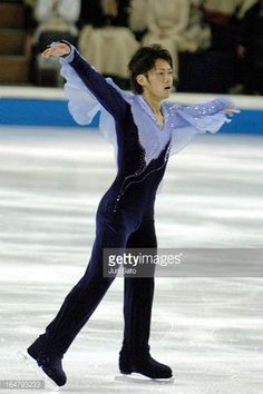 Daisuke Takahashi during men's singles at Japan International Challenge figure skating cup competition