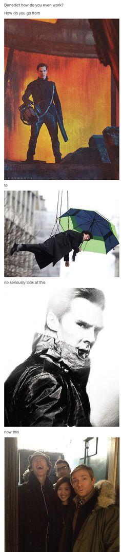 Simplesmente porque é Benedict ( e por causa da convivência com Martin, é claro)