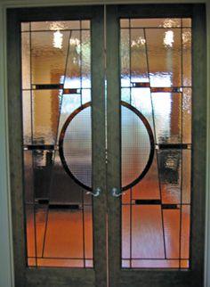 Lovely Art Glass By Wells | Custom Leaded Glass Interior Doors In Houston, Texas.