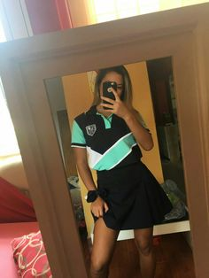 Sport Fashion, Girl Fashion, Fashion Outfits, Womens Fashion, Girl Photo Poses, Girl Photos, Senior Shirts, Camisa Polo, Cool Style