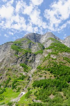 Norway waterfall by alfonsodetomas on @creativemarket