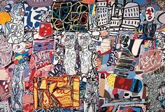 """Fondation Beyeler's #JeanDubuffet retrospective """"Metamorphosis of Landscape"""" offers a look back on the artist's who's richly facted work still influences contemporary and street art today. On view until May 8. Image: Mêle moments 1976 Acrylic and collage on paper mounted on canvas Private Collection  2015 ProLitteris Zurich. by pacegallery"""