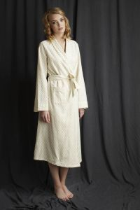 dressing gown, cosy cotton nightwear, ladies nightwear, night robe, Alice and Astrid