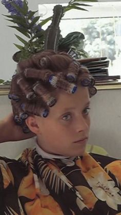 how to put rollers in hair for perm