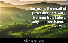 Success is the result of perfection, hard work, learning from failure, loyalty,