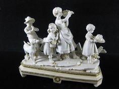 SCHWARZA SAALBAHN E. Müller - Biskuit Porzellan Figur Gruppe 'Kinder' / um 1900