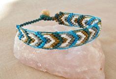 Freundschaftsbänder - Makramee Armband Blätter türkis - ein Designerstück von Sunnseitn bei DaWanda