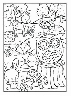 Free Woodland Animal Coloring Pages. 20 Free Woodland Animal Coloring Pages. Woodland Animals Coloring Pages Coloring for Adults Woodland