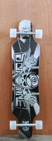 """Thoughts? compared to Lookout?    Sector 9 40.25"""" Mini Shaka Grey Complete"""
