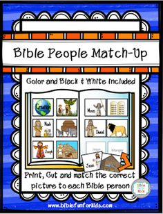 Bible People Match-Up in color and black * white @ www.biblefunforkids.com