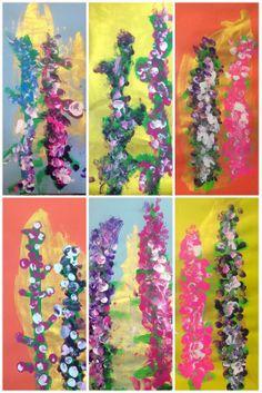 Exploring Art: Elementary Art Kindergarten Lupine Blossoms