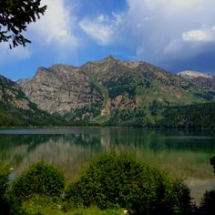 Phelps Lake, Grand Teton National Park within the Laurance Rockefeller Preserve at an elevation of 6,630ft.