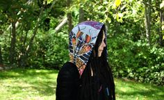 Reversible Festival Hood with Chains by IntergalacticApparel