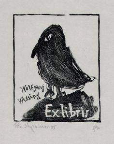 ≡ Bookplate Estate ≡ vintage ex libris labels︱artful book plates - Wolfgang Wussing
