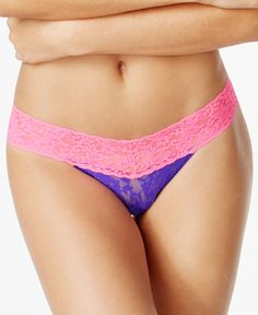 Hanky Panky Colorplay Lace Thong 36106