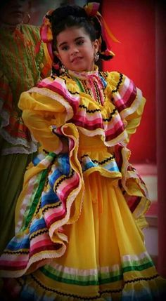 Traditional Mexican Dress - fear no color Mexican Costume, Mexican Party, Folk Costume, Mexican Colors, Mexican Style, Traditional Mexican Dress, Traditional Dresses, Beautiful Children, Beautiful People