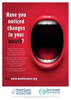 Dentaltown - November is Mouth Cancer Action Month - 1,985 people in the UK die from mouth cancer every year.